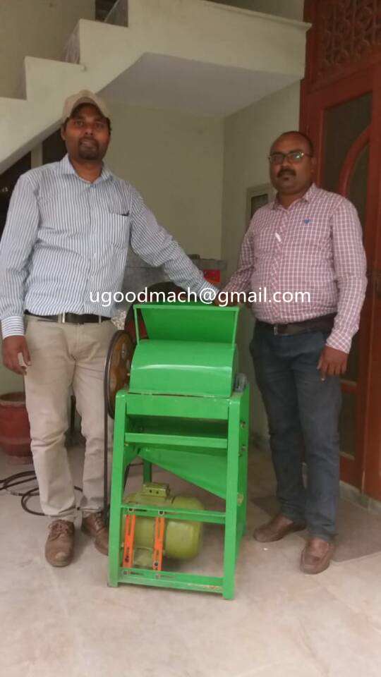 Pakistan Client Mr. Gill Received His Peanut Shelling Machines