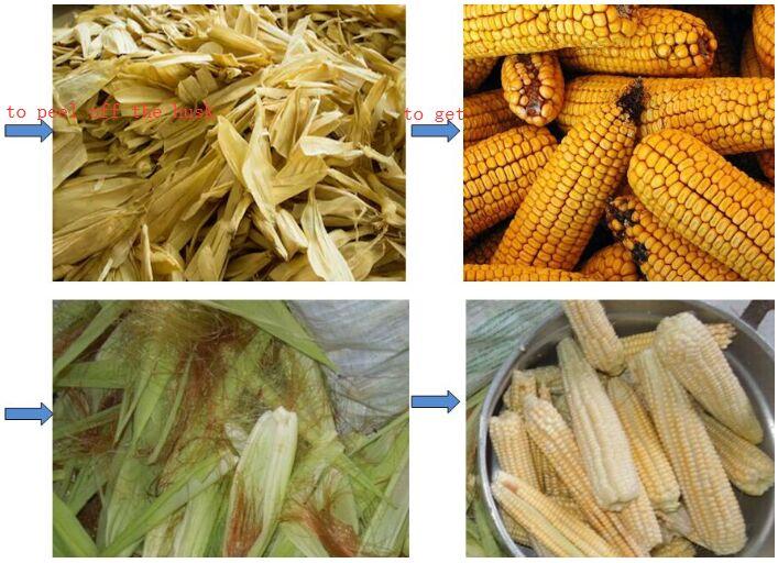 Blowing Type Corn Husker