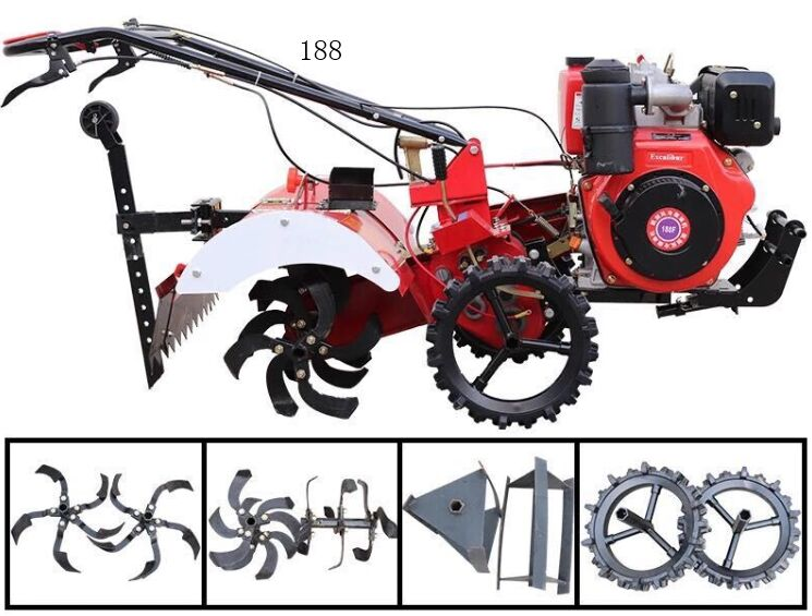 Small Mini Hand / Self-Propelled Tractor Gasoline/ Diesel Engine