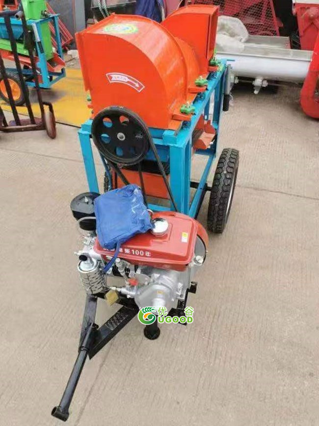 Small Diesel Engine Powered Portable Crops Thresher Delivery to Australia
