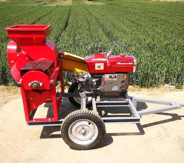UGT-20 Corn Husking and Threshing Machine Portable with Towing Bar for Tractor Powered by Motor or Diesel Engine